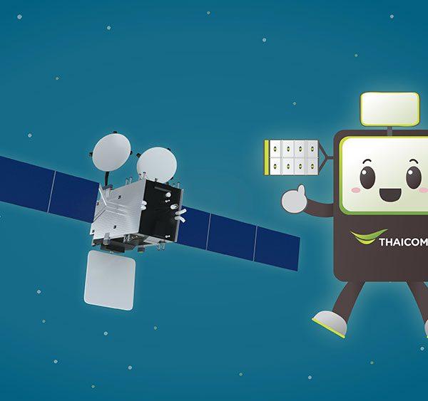 3d Motion Info Graphic Thaicom Satellites