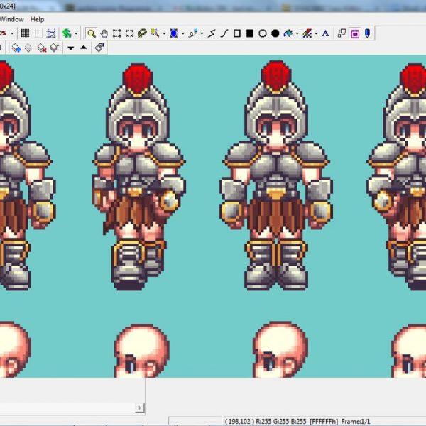 GraphicsGale ซอฟต์แวร์ฟรีสำหรับคนที่ต้องการทำ Spriting & Pixel Art !!