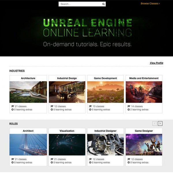 Unreal Engine Online Learning ประกาศเปิดตัว