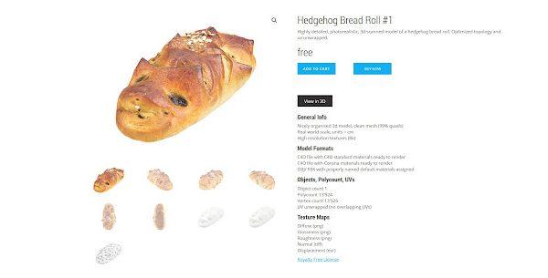 3D scans รูปแบบอาหารฟรีเอามาให้โหลดกัน !!